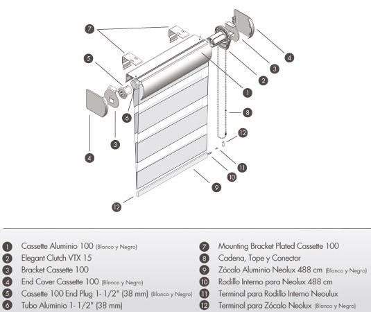 Accesorios para cortinas enrollables for Accesorios para cortinas